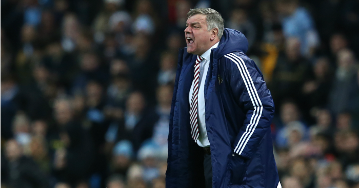 Sam Allardyce: Manager's side well beaten at Manchester City