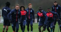 Siem de Jong and Papiss Cisse: Take part in Newcastle United training session