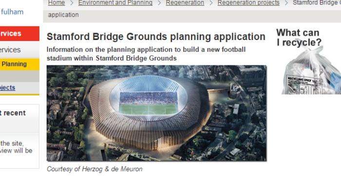 Stamford Bridge Grounds planning application Hammersmith Fulham