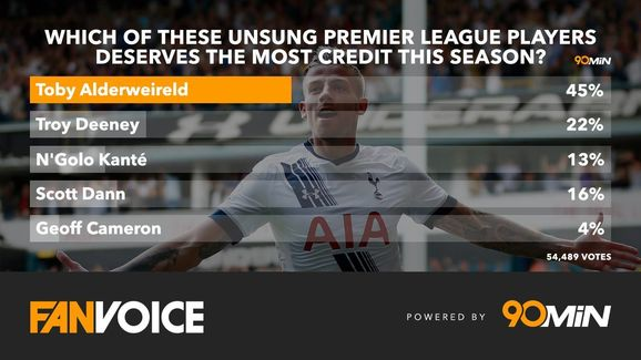 Toby Alderweireld: Comes out on top in fans poll