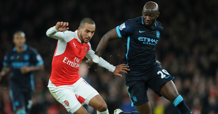 Eliaquim Mangala: Keeps a close eye on Theo Walcott
