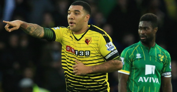 Troy Deeney: Celebrates his first-half spot kick