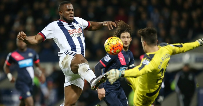Victor Anichebe: Led the line for Albion