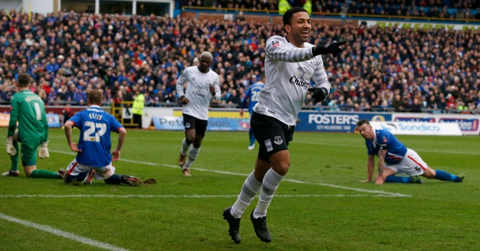 Aaron Lennon: Scored Everton's second in 3-0 win at Carlisle United