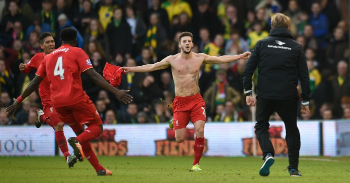 Adam Lallana: Scored Liverpool's winning goal at Norwich City
