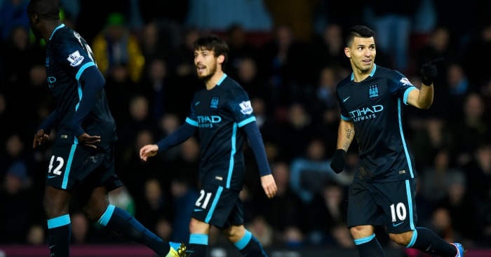 Sergio Aguero: Netted twice at Upton Park