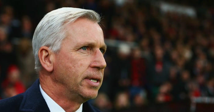Alan Pardew: Says Crystal Palace should have had two penalties at West Brom