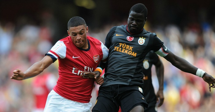 Emmanuel Eboue (r): Training with Sunderland