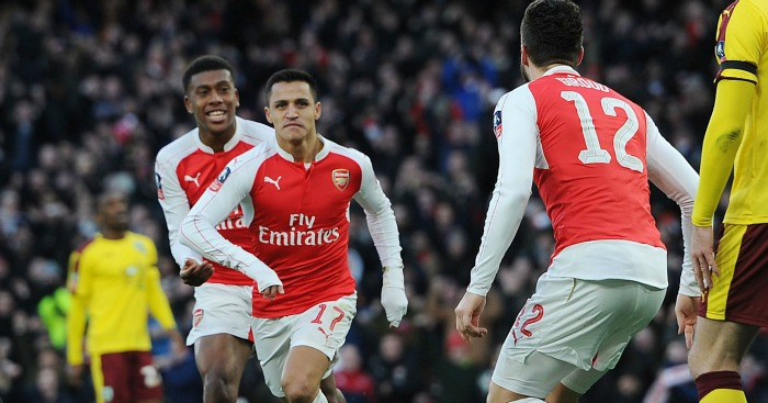 Alexis Sanchez: Celebrates getting the winner