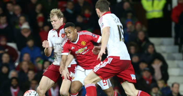 Anthony Martial: Saw a late shot blocked