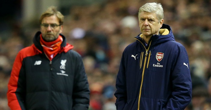 Jurgen Klopp & Arsene Wenger: Watch on at Anfield