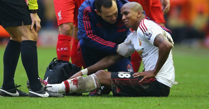Ashley Young: Needs surgery after being injured at Liverpool