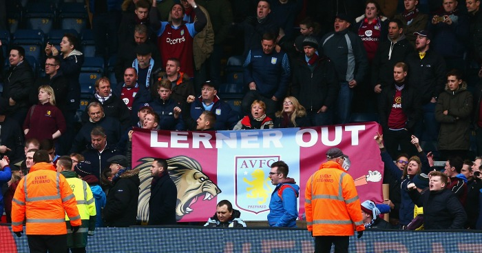 Angry: Fans unhappy with the current plight of Aston Villa
