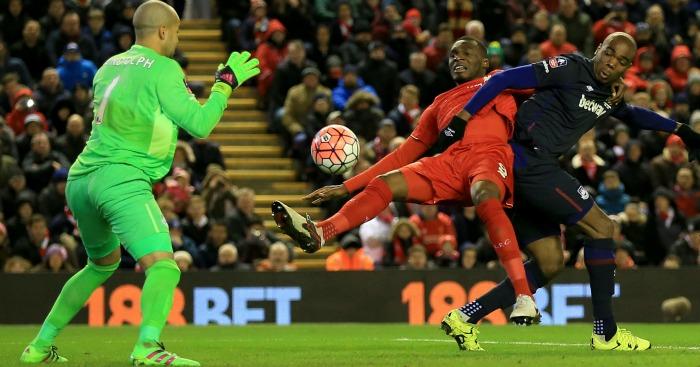 Christian Benteke Liverpool v West Ham