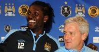 Emmanuel Adebayor: Could face former manager on Saturday