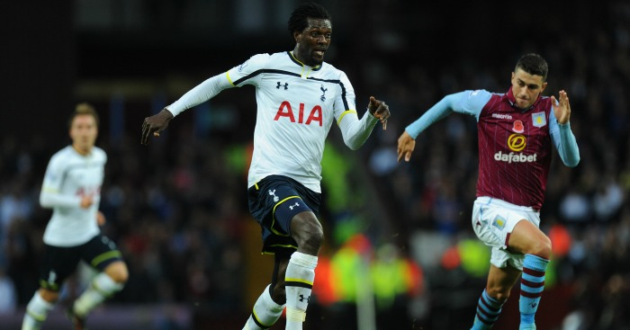 Emmanuel Adebayor: Striker released by Spurs in September