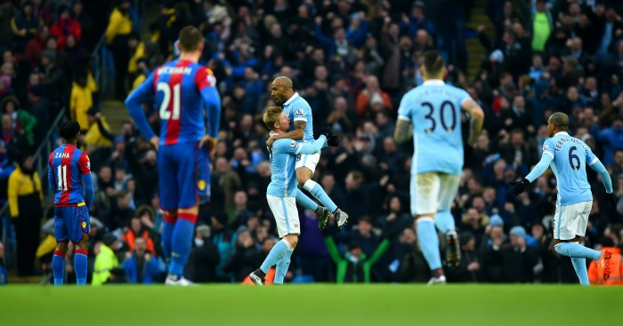 Fabian Delph Manchester City celebration