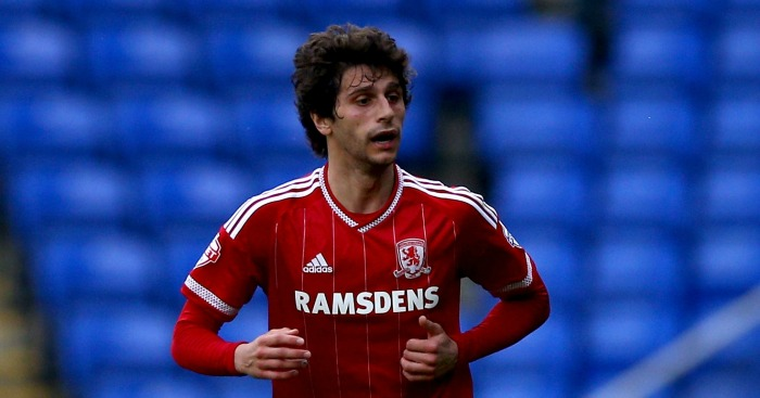 Diego Fabbrini: Ended Middlesborough loan spell