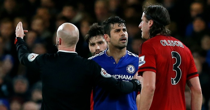 Diego Costa: Involved in altercation during West Brom draw