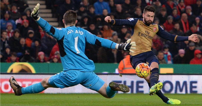 Jack Butland: Pulled off a stunning save to deny Giroud