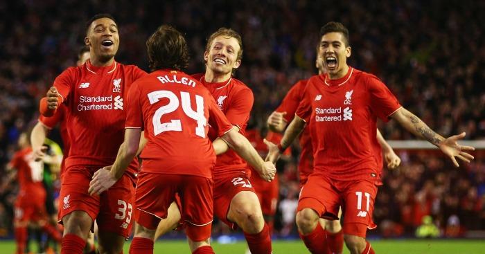 Joe Allen: Scored winning penalty to send Liverpool to Wembley
