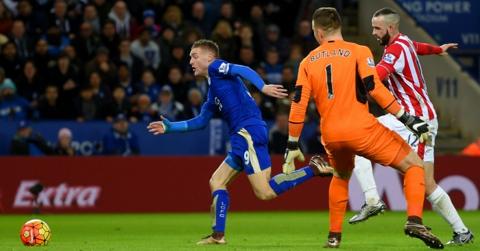Jamie Vardy: Nets Leicester's second against Stoke