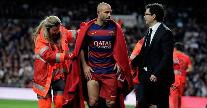 Javier Mascherano: Defender also hit with huge fine