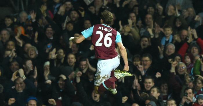 Nikica Jelavic: Won it for West Ham