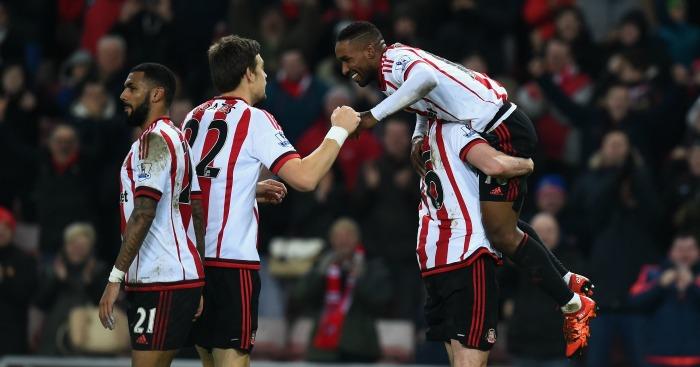 Sunderland: Celebrate Jermain Defoe's second goal against Aston Villa