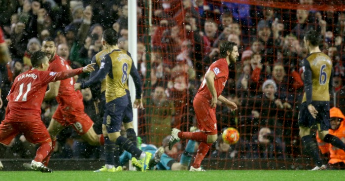 Joe Allen: Earns Liverpool a late point at Anfield