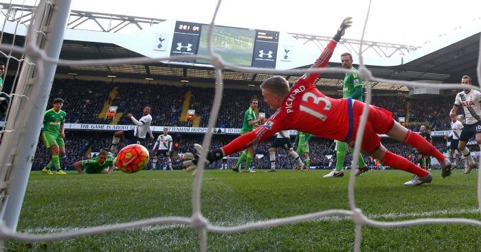 Jordan Pickford Tottenham v Sunderland