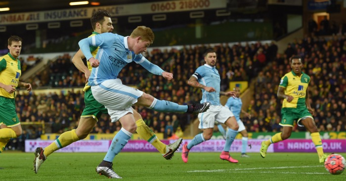 Kevin De Bruyne: Drills home City's third