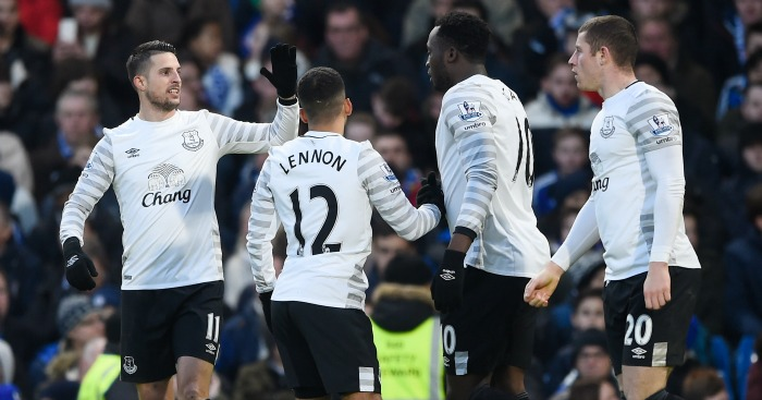 Kevin Mirallas Everton celebration