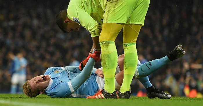 Kevin de Bruyne: Forward had to be stretchered off the field