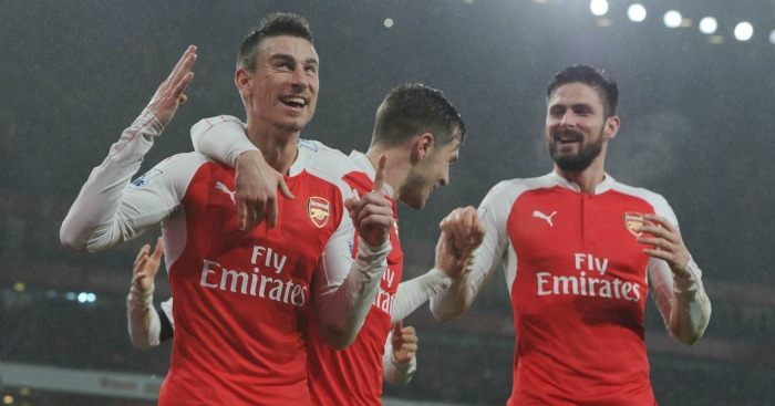 Olivier Giroud: Celebrates Arsenal's winner against Newcastle United