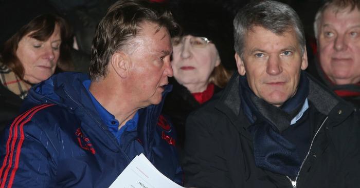 Louis van Gaal David Gill Manchester United