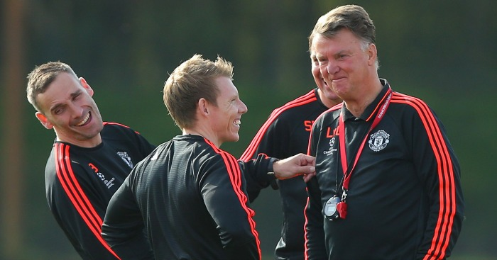 Louis van Gaal: Took Man United training on Tuesday morning