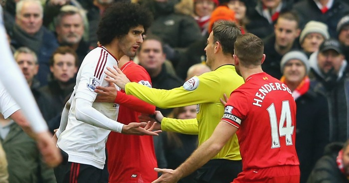 Marouane Fellaini: Lets his frustrations spill over
