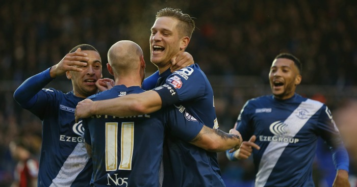 Michael Morrison: Celebrates with his Birmingham team-mates