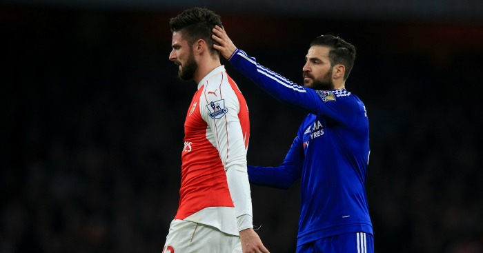 Olivier Giroud: Substituted after 22 minutes against Chelsea