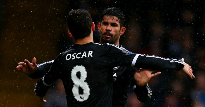 Oscar and Diego Costa: Impressed for Chelsea at Crystal Palace