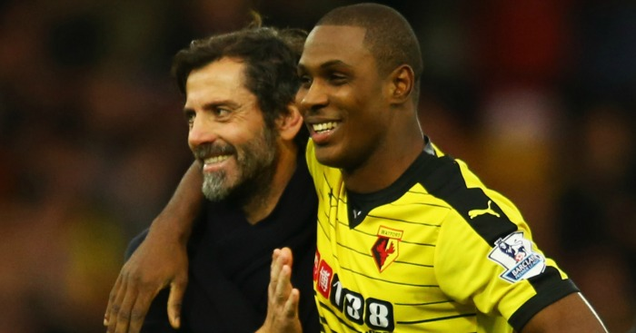 Quique Sanchez Flores and Odion Ighalo: Watford's award winners