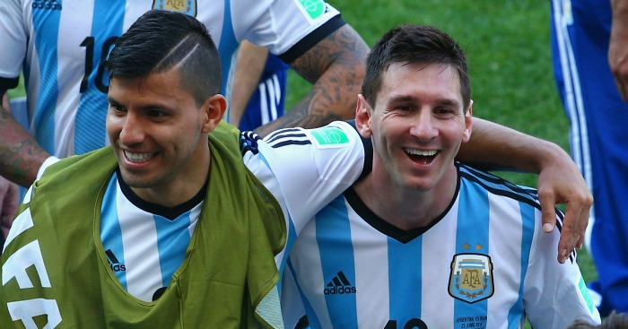 Sergio Aguero: Would love Messi link up at Man City