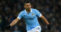 Sergio Aguero: Dons the gloves in the weekend win