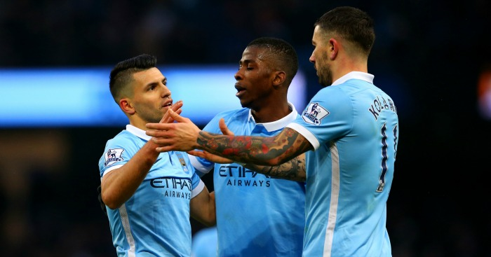 Sergio Aguero: Scored twice in Manchester City's win over Crystal Palace