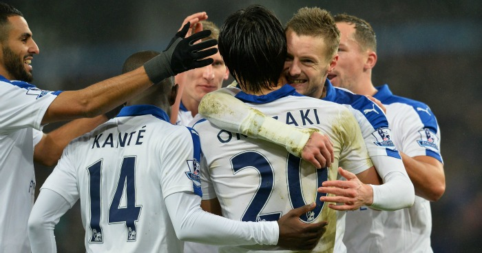 Shinji Okazaki: Insists Jamie Vardy will score again soon