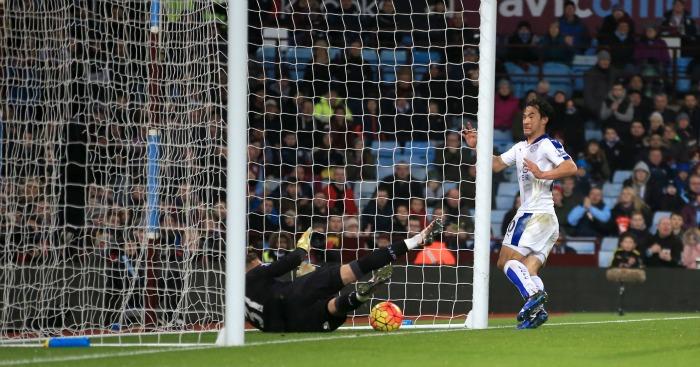 Shinji Okazaki goal Aston Villa