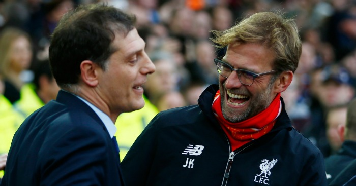 Slaven Bilic: Shares a joke with Jurgen Klopp