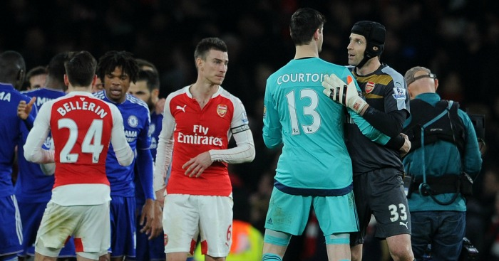 Petr Cech: Said Arsenal were brilliant against Chelsea