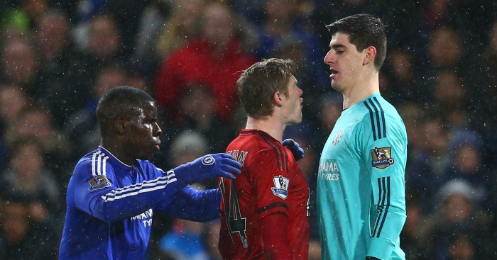 Thibaut Courtois: Goalkeeper clashes with James McClean